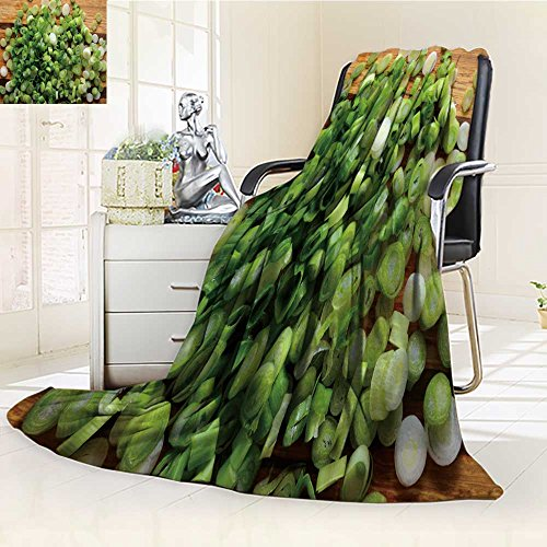 Microfiber Salad (Luminous Microfiber Throw Blanket sliced chopped spring onions salad onions green onions or scallions on wood bac Glow In The Dark Constellation Blanket, Soft And Durable Polyester(60