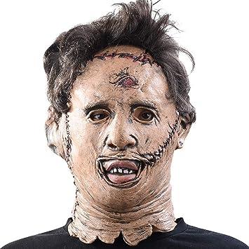 JIBO Masacre De Motosierra Máscara De Terror De Halloween Accesorios De Película Barra De Látex Máscara