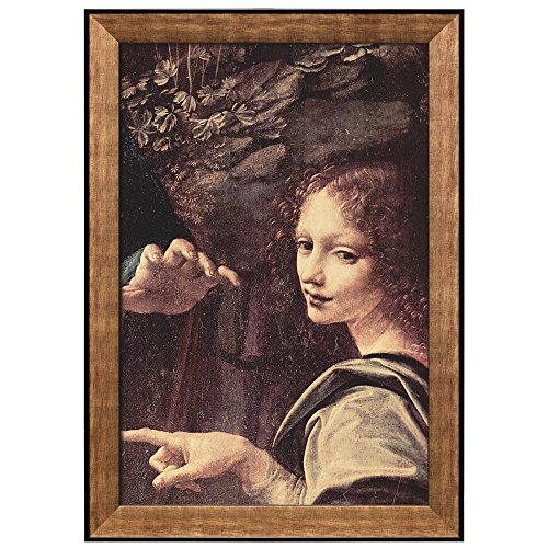 Virgin of the Rocks (Detail) by Leonardo Da Vinci Framed Art