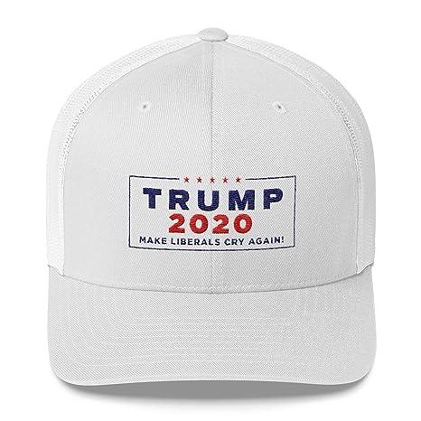 0ea345f9 Amazon.com : Donald Trump 2020 Make Liberals Cry Again Trucker Cap MAGA Hat  : Sports & Outdoors