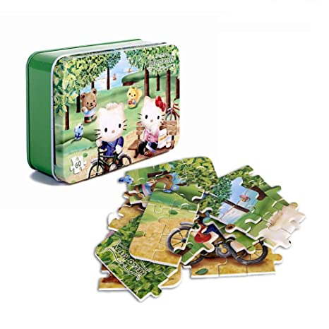 5842f4420 Amazon.com: NEILDEN 60 Pieces of Hello Kitty Puzzle - Eat Apple Jigsaw Toys  for Children and Girls to Learn and Entertain, Beautiful Carton Puzzles for  4-8 ...