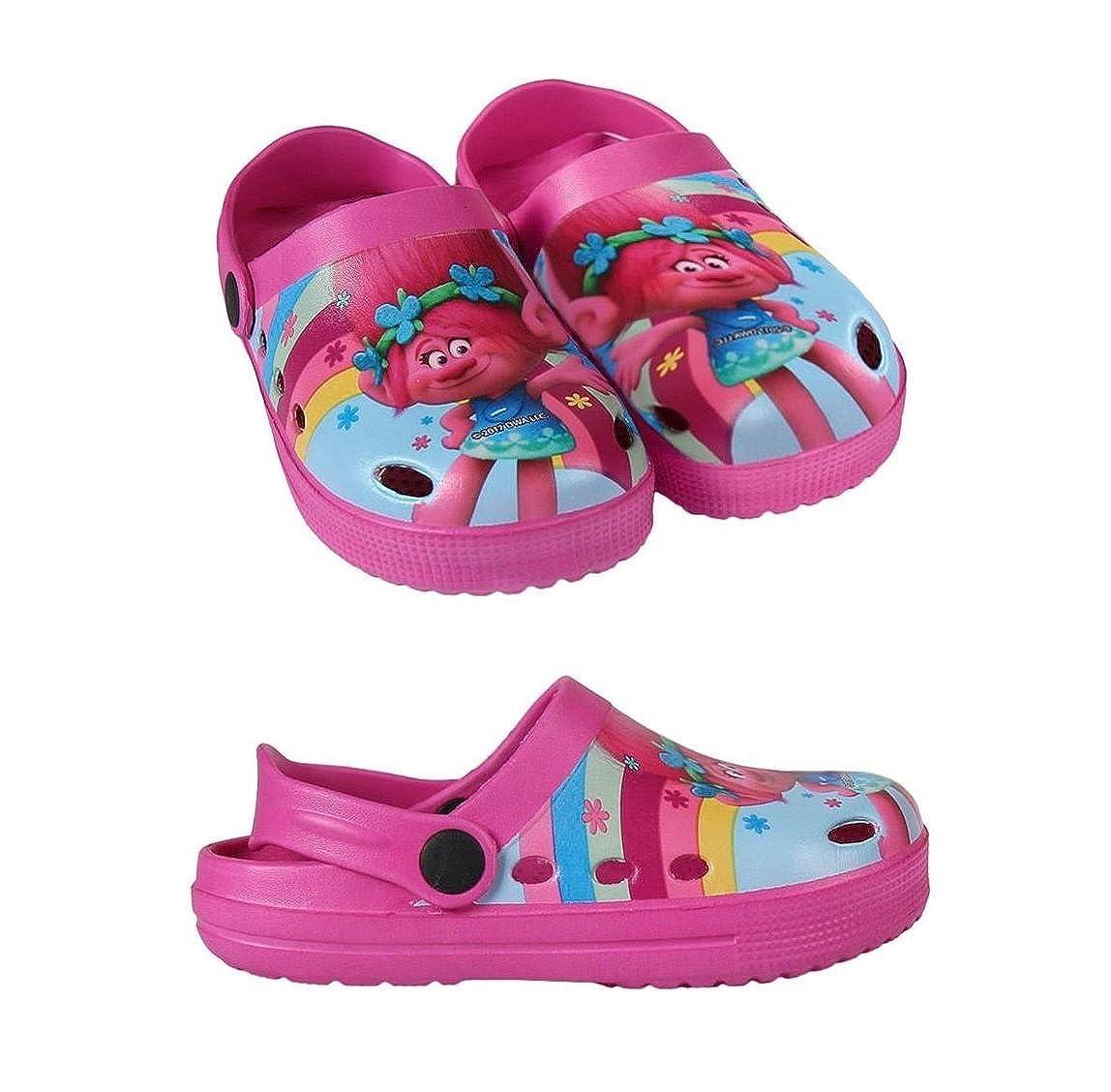 takestop Slippers Crocs Slippers Sea Rubber Non-Slip Poppy Trolls Beach Clogs Cartoon Pool Sea Girl Child Unisex