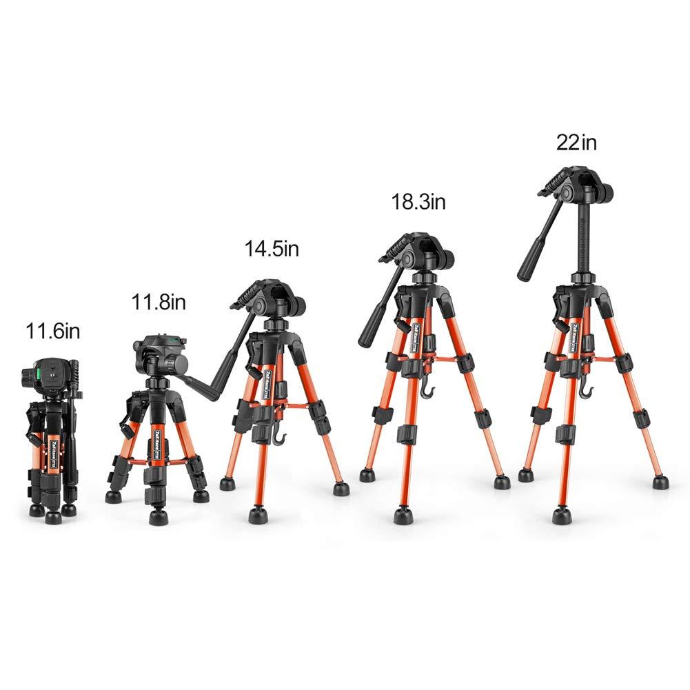 1//4 Lega di Alluminio Professionale Portatile Compatto Smartphone Fotocamera Tavolo Supporto con la Borsa Universale per Canon Nikon DSLR Huawei Zakitane Mini Treppiede Reflex da Viaggio la 30cm