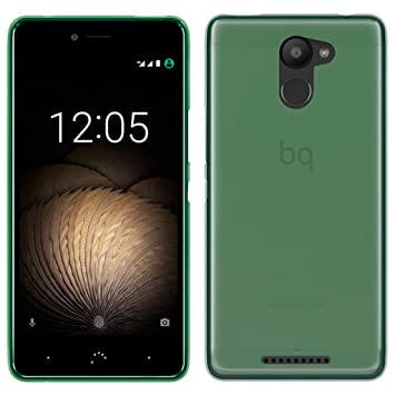 OVIphone Funda Gel TPU Para BQ AQUARIS U PLUS (NO COMPATIBLE CON BQ AQUARIS U / U LITE) (Color verde)