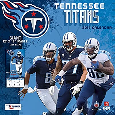 "Turner Licensing Sport 2017 Tennessee Titans Team Wall Calendar, 12""X18"" (17998011929)"