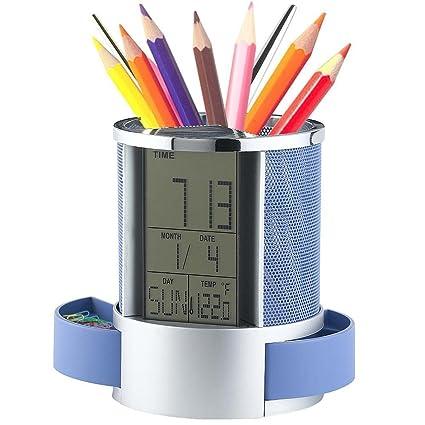 Office & School Supplies Nice Desk Mesh Pen Pencil Holder Office Supplies Multifunctional Digital Led Pens Storage