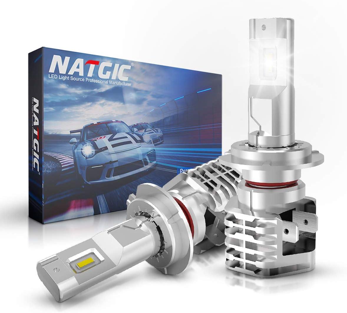32V Pack de 2 Garantie 2 Ans NATGIC H7 Ampoules Antibrouillard /à LED Hight Power 55W Puces CSP Super Lumineuses pour Feu de Circulation Diurne 3200LM et 6500K Blanc X/énon DC 9V