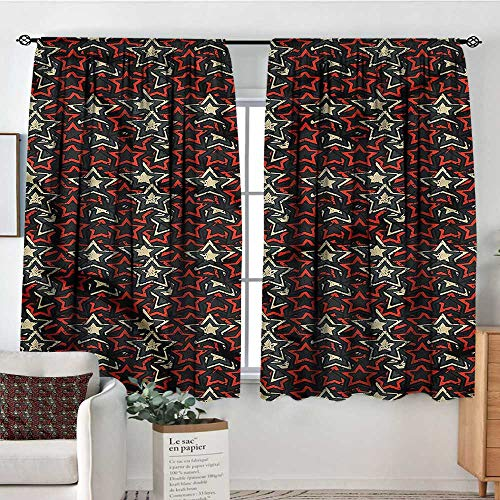 Pointed Finial - Star,Customized Chid Curtains Five Pointed Festive Motif 52