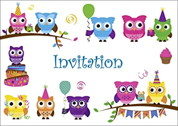 Edition Colibri Carte D En Francais Lot 10 Invitations Pour Anniversaire De Filles Enfant Motif Avec Les Hiboux Mignons 10645 Fr Amazon Fr Jeux Et Jouets