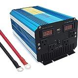 Yinleader 2018 New 純正弦波 インバーター2000W 瞬間最大4000W 12V 100V-110V DC→AC 変換器 USBポート ACコンセント 4口 パワーインバーター 災害対策 地震・防災用品