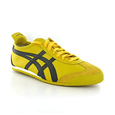 cfed2f9014173 Amazon.com  Onitsuka Tiger Mexico 66 Yellow Black Mens Trainers Size ...