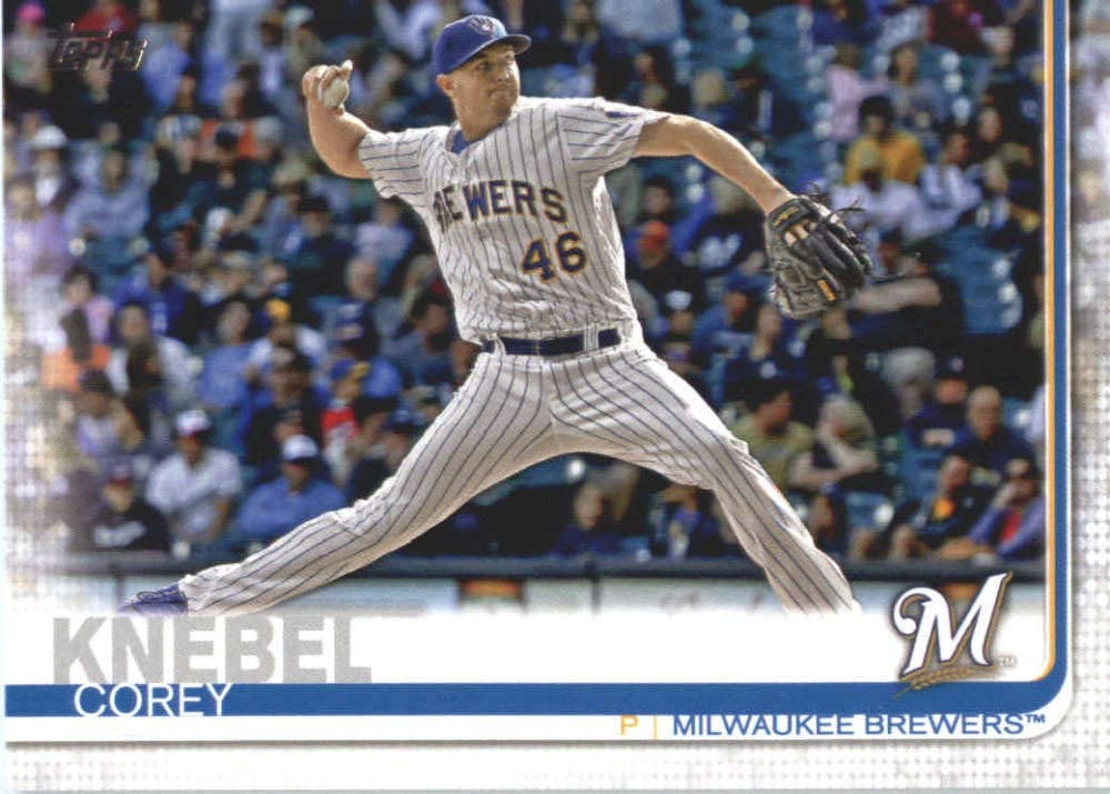 COREY KNEBEL Signed Autographed 2019 Topps Series Two 2 Card Brewers #554 COA