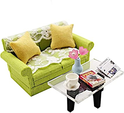 """Blue 18/"""" Doll LIVING ROOM SET Couch Sofa Chair for My Life As American Girl Boy"""