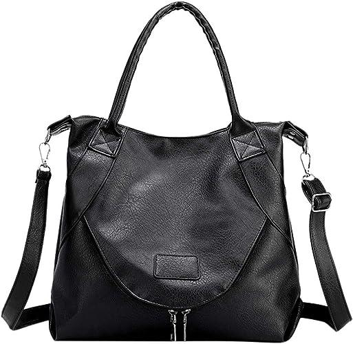 Black Womens Ladies Hobo Satchel Tote Messenger leather purse shoulder handbag