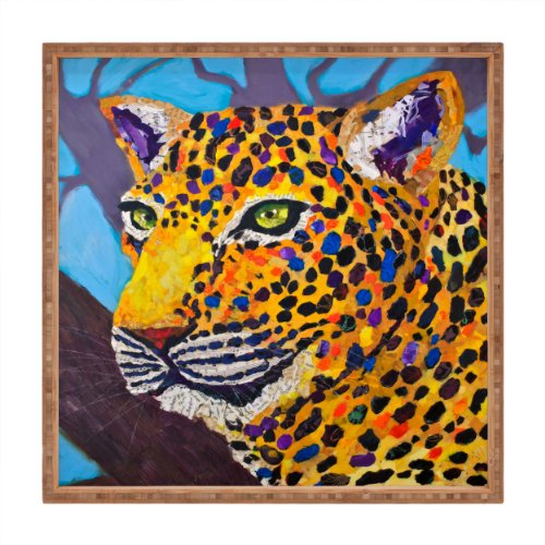 (Deny Designs Elizabeth St Hilaire Nelson Jacklyn Jaguar Indoor/Outdoor Square Tray, 12 x 12)