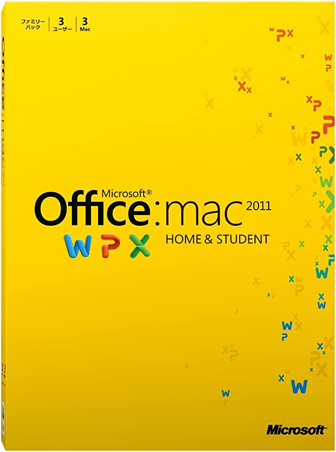 Microsoft Office for Mac Home and Student 2011(ファミリーパック)