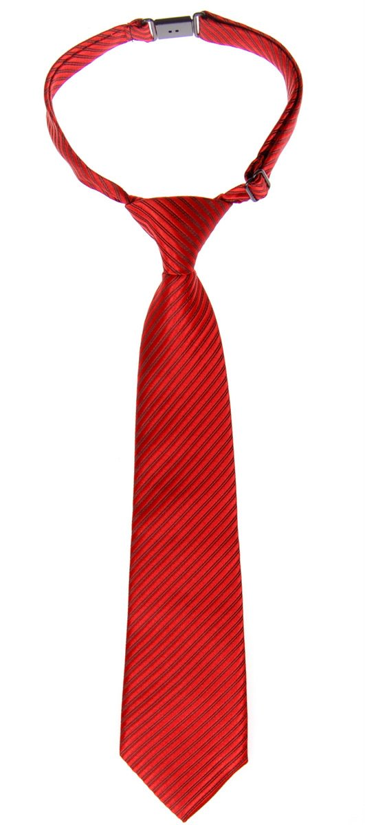 Retreez Woven Pre-tied Boy's Tie with Stripe Textured - Red - 24 months - 4 years