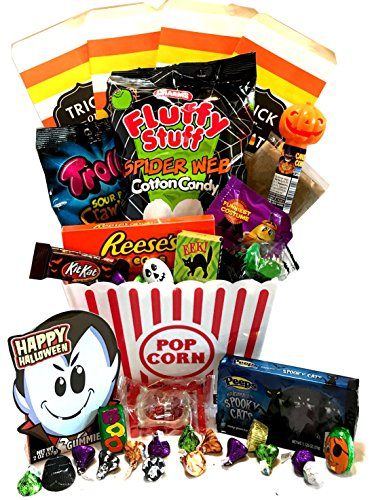Halloween Gift - Halloween Care Package - Campus Care Package (Halloween Movie Night! Popcorn - Deluxe)