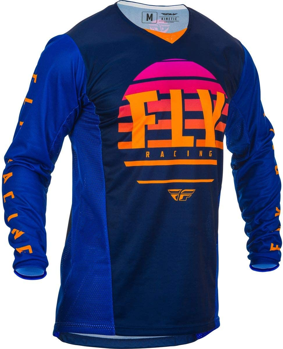 Midnight//Blue//Orange Small Fly Racing 2020 Youth Kinetic Jersey K220