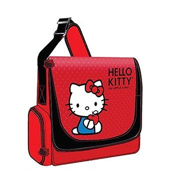 Hello Kitty kt4339rv 12 Laptop Messenger bolsa de nailon rojo w/ajustable correa Electronics ordenadores accesorios: Amazon.es: Electrónica