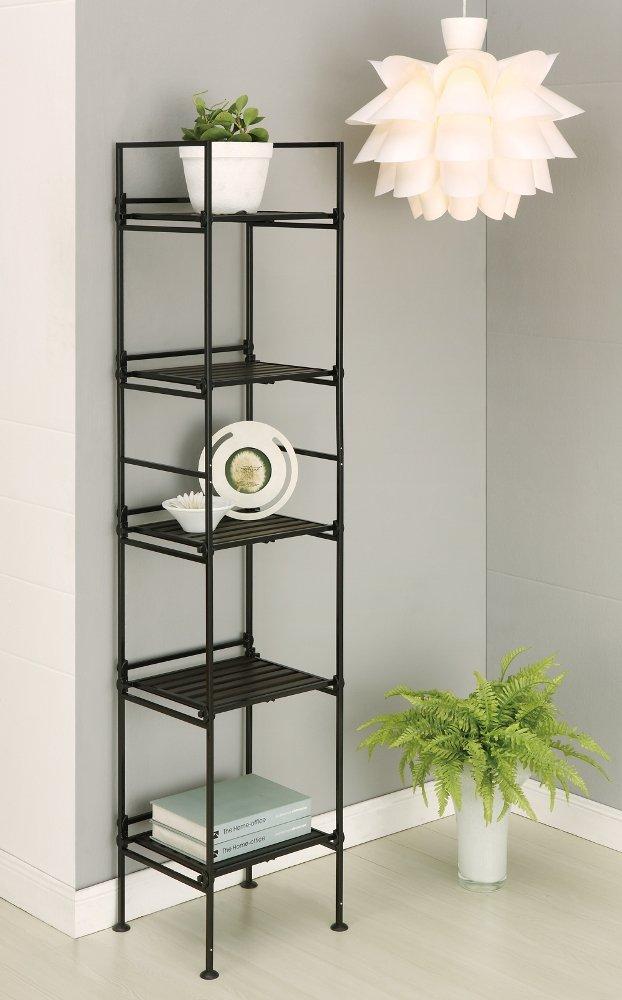 Organize It All Ebonize 5-Tier Square Shelf in Espresso 97215W