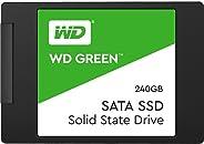 SSD WD Green 2.5´ 240GB SATA III 6Gb/s Leituras: 545MB/s e Gravações: 465MB/s - WDS240G2G0A