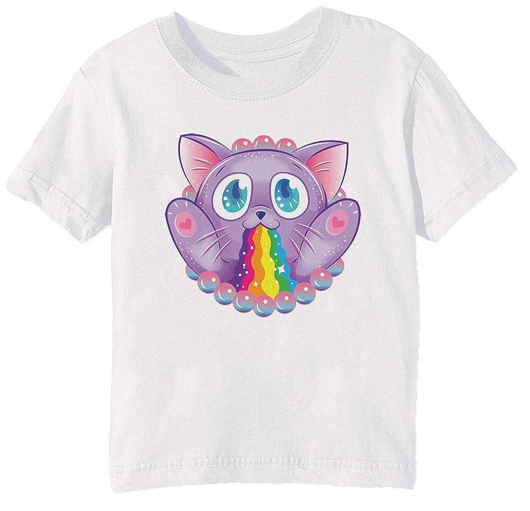 Arco Iris Bote - Gato Niños Unisexo Niño Niña Camiseta Cuello ...