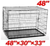 PawHut 48″ 2-door Folding Wire Pet Dog Crate – 48″ l x 30″ w x 33″ h Review