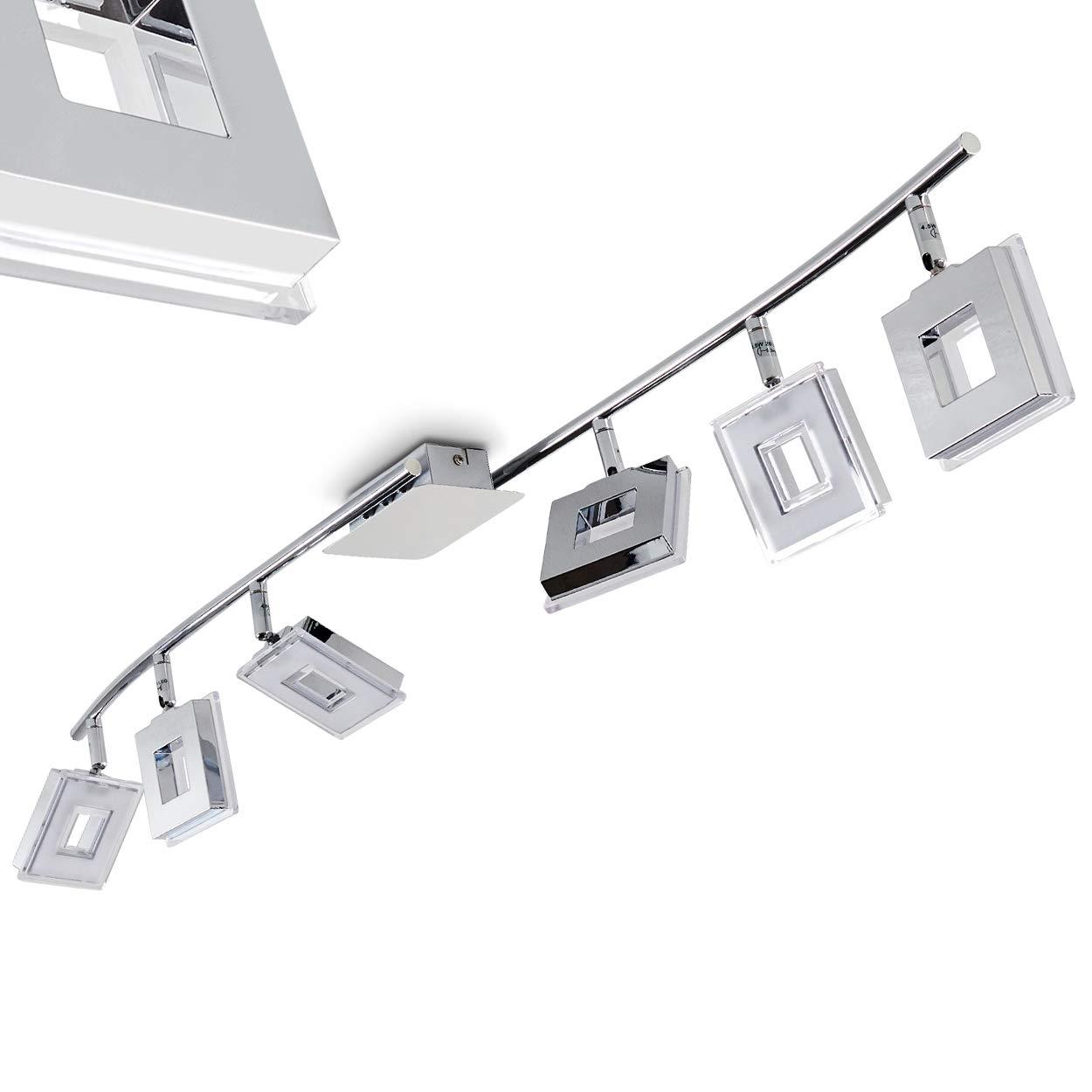 LED Deckenspot Krakau in Chrom mit 3 verstellbaren Leuchtenköpfen - 1050 Lumen und 3000 Kelvin warmweißes Licht - LED Deckenstrahler für die Beleuchtung vom Wohnzimmer, Küche, Bad, Flur [Energieklasse A++] Küche hofstein