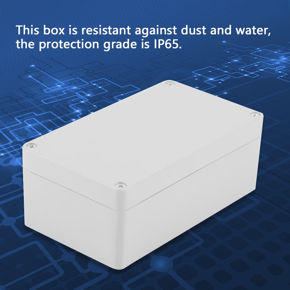 200 * 120 * 75mm Water resistant Junction Box IP65 ABS Universal Electrical Project Enclosure Instrument Case Fixed Mount