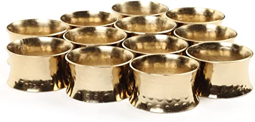 4 Pack Hammered Style Napkin Rings WEDDING PARTY BANQUET HOLIDAY CATERING