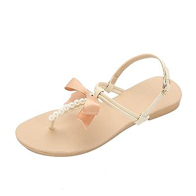 Damen Flach Sandalen Schuhe – lath. Pin Frauen Ankle Strap