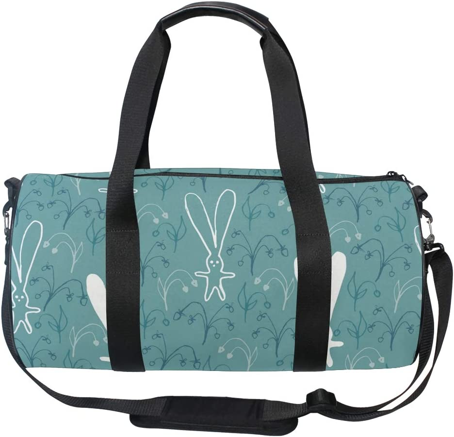 MALPLENA Big Ears Bunny Drum gym duffel bag women Travel Bag