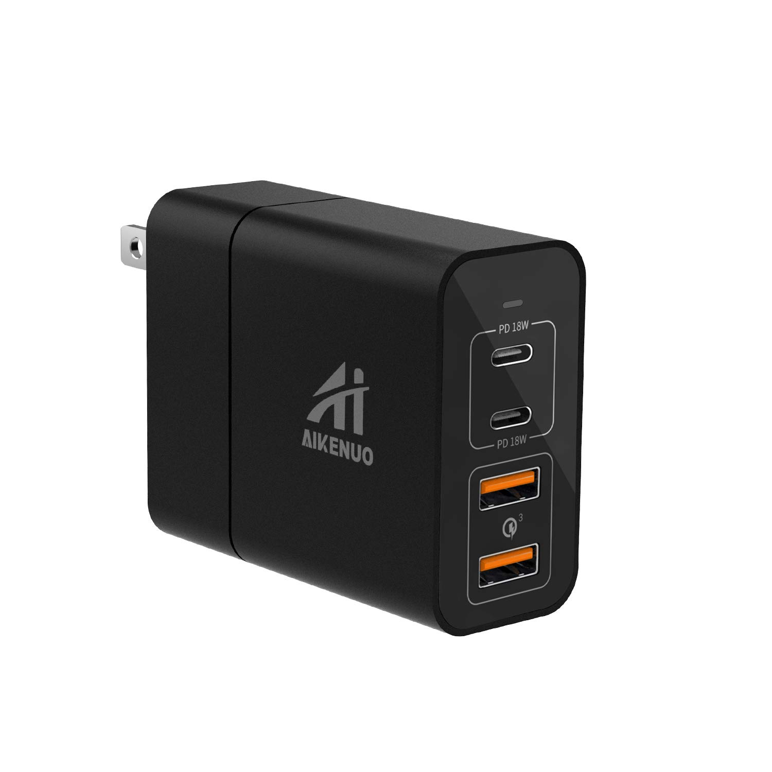 USB C Charger, AI AIKENUO 48W Fast Charging PD Wall Chargers with Dual 18W Power Delivery 3.0& Quick Charge 3.0, Multi Port USB-C Travel Adapter for Samsung Galaxy S10/S9/S8/Plus,iPhone Xs/Max/XR