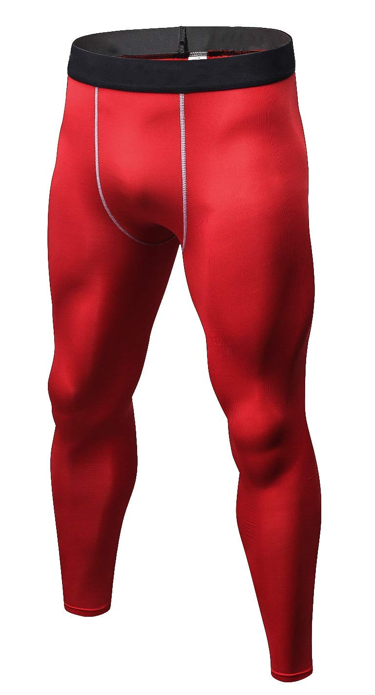Men's Base Layer Bottom Compression Pants Cool Dry Sports Leggings