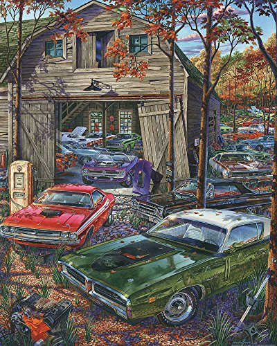 (Vermont Christmas Company Cars on The Farm Jigsaw Puzzle 1000 Piece)
