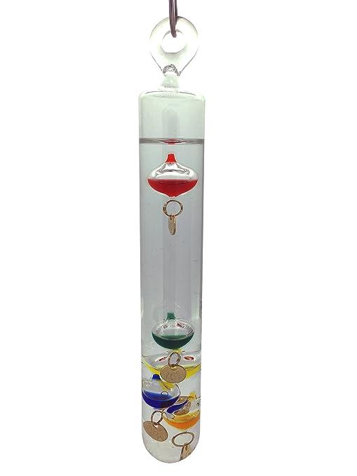 Blue Galileo thermometer 30cm