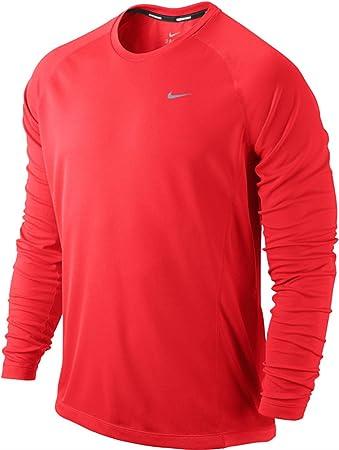 bc86a989 Nike Dri-FIT Miler Long Sleeve UV T-Shirt: Amazon.co.uk: Sports ...