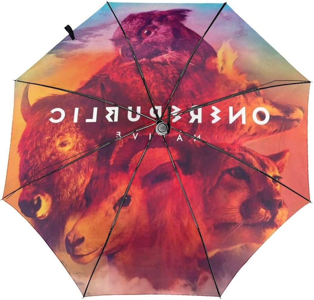 OneRepublic Sun Protection Umbrella,Waterproof Travel Automatic Tri-fold Umbrellas