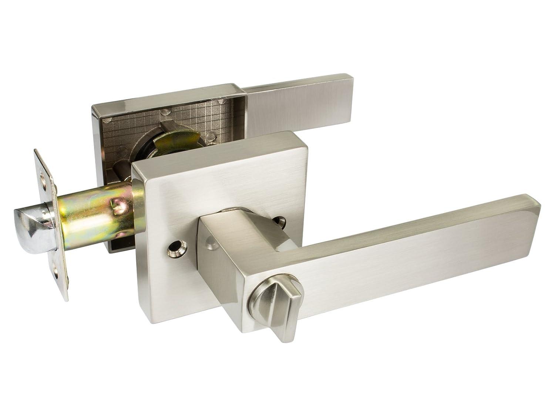 Beau Quad   Square Privacy Door Lever / Door Handle By Nova Hardware (Privacy)      Amazon.com