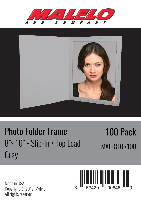 Gray Cardboard Photo Folder Frame 8x10 - Pack of 100
