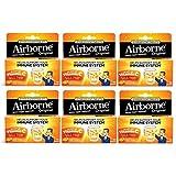 Airborne Immune Support Supplement Tablets Zesty Orange , 10 CT (Pack of 6)