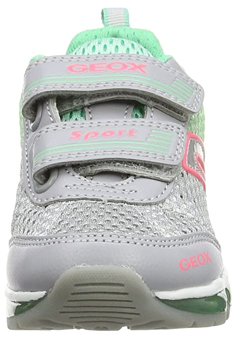Geox Android A, Sneakers Basses Fille, Gris (C1L3Z), 33 EU