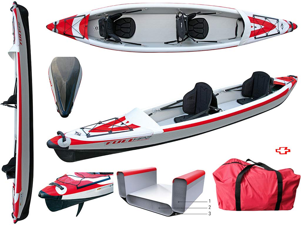 BIC Sport - Canoa hinchable YakkAir Full HP 2 Two 101499 + 2 ...