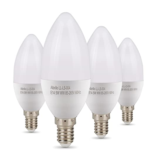 Bombillas LED E14 SES de 6 W, Equivalente a 60 W, 2700 K,