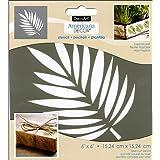 """Decoart DECADS-K.107 Americana Decor Stencil Tropical Leaf, 6"""" by 6"""""""
