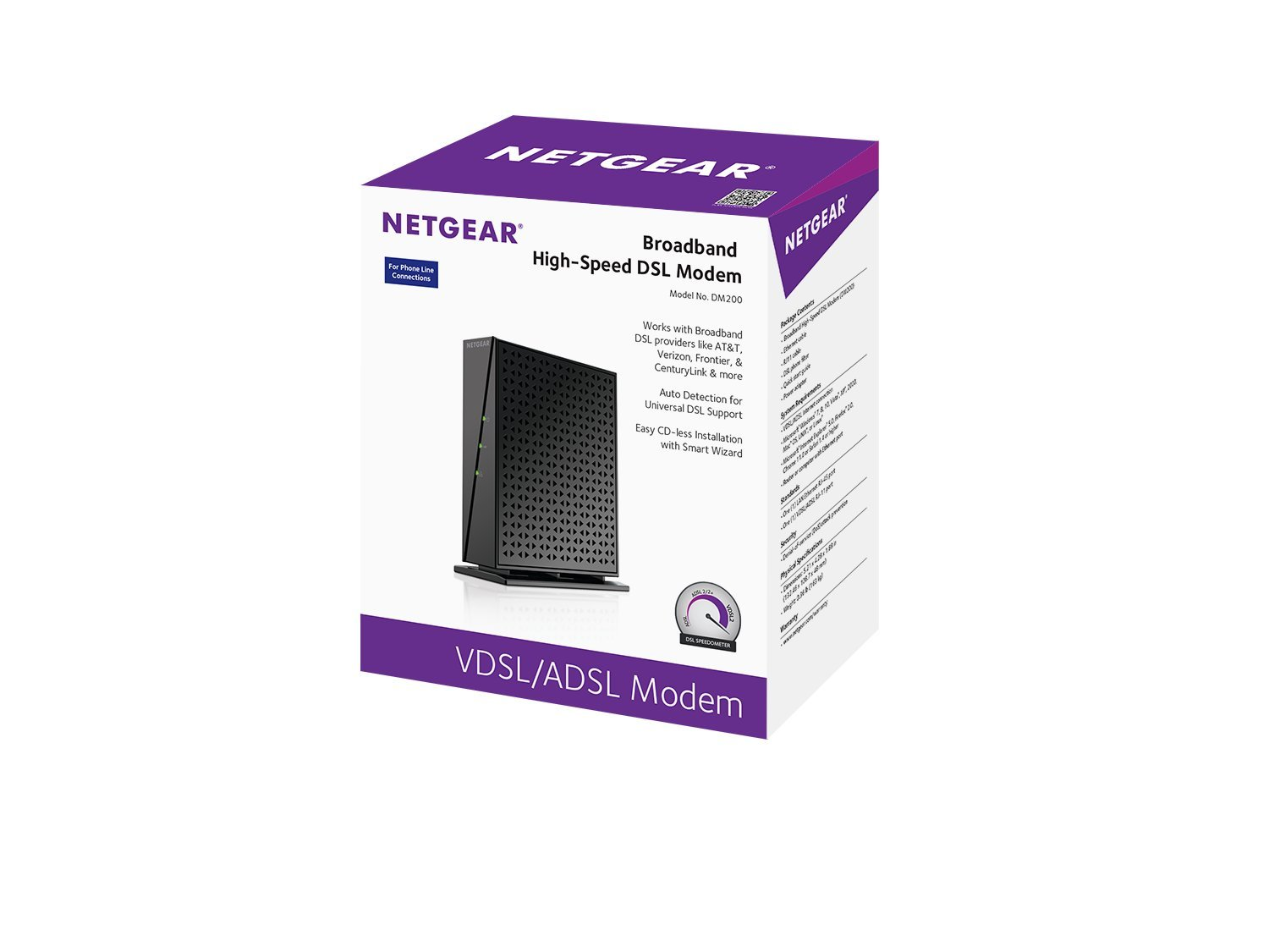 Netgear High Speed Broadband Dsl Modem Dm200 100nas Rj11 Connector Wiring Diagram Centurylink Compatible Only With And Frontier Non Bonded Vdsl Computers Accessories