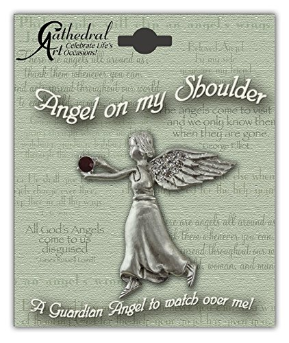 Cathedral Art BA301 January Garnet Birthstone Angel Pin, 1-1/2-Inch