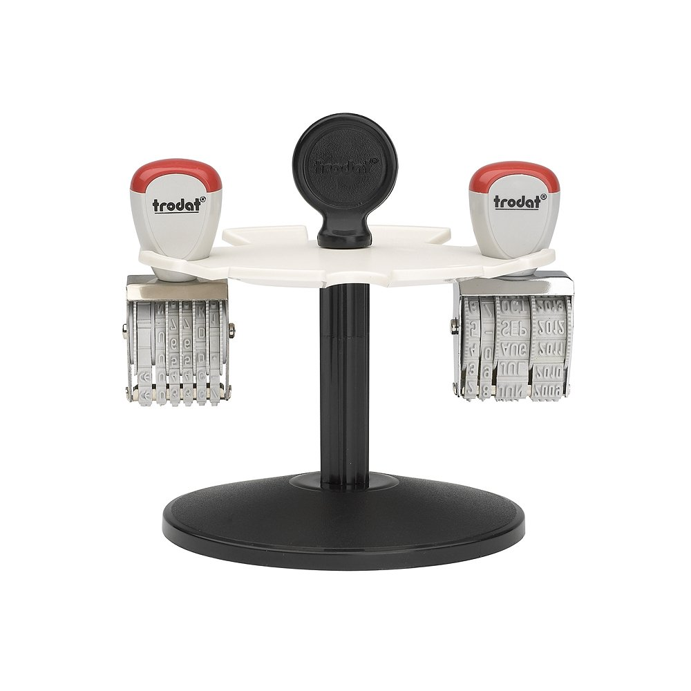 TRODAT Portatimbri 3008/girevole per 8/timbro in plastica