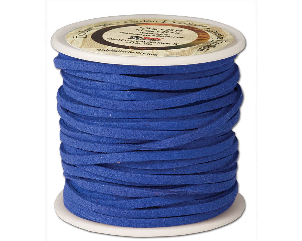 Tandy Leather Eco-Soft Lace 1/8'' x 25 yds (3 mm x 22.9 m) Blue 5029-14
